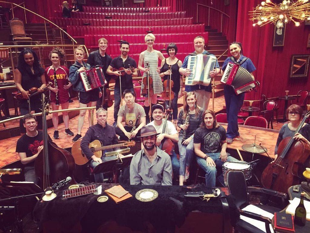 Great Comet musicians jam